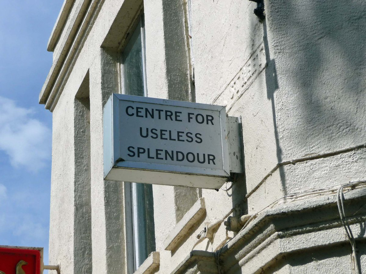 The Centre for Useless Splendour http://t.co/aZNivrJCCG