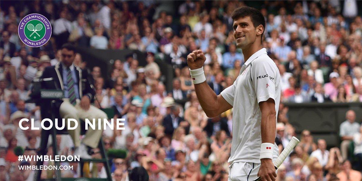 THREE #Wimbledon crowns. NINE Grand Slam titles.   @DjokerNole defeats Roger Federer 7-6, 6-7, 6-4, 6-3 http://t.co/yi1bk8jFAo