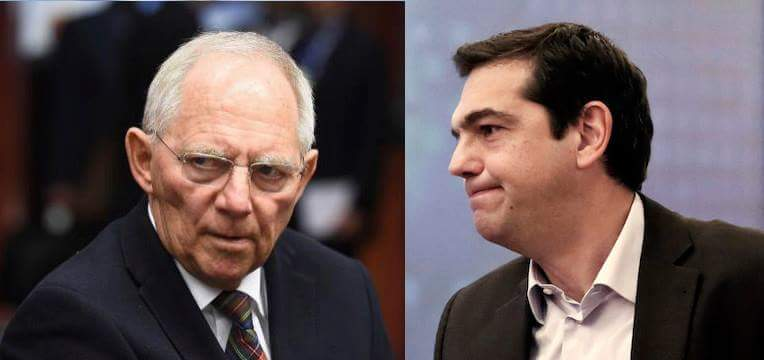 One of these men is populist fanatic wrecking EU to prove a point.The other is Greek PM. #ThisIsACoup @NYTimeskrugman http://t.co/fC1vzqk76N