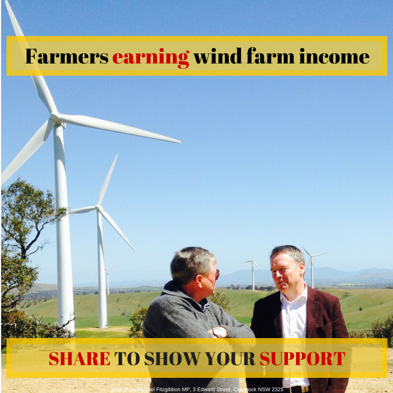 Farmers support wind farms and so do I. RETWEET if you do too ! #CountryLabor #auspol http://t.co/Bg65Pg8YAh