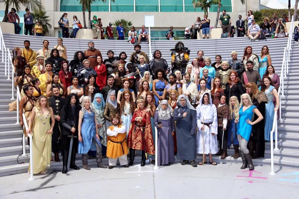 Look at all the people who showed up for the #GameOfThrones cosplay meet up at #SDCC. #ExperiencetheRealm http://t.co/Y9SWSYD4va