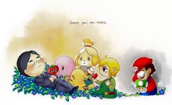 Beautiful fan art, genuinely brought a tear to my eye #ThankYouIwata http://t.co/U2xndlhVZd