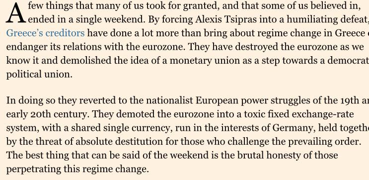 Wolfgang Munchau's damning  assessment of Greece's 'brutal' creditors http://t.co/BRjl59ZEQZ http://t.co/PT5Na8Xyua
