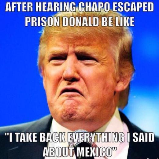 CJzLRIuWwAAF5vs as the notorious drug baron el chapo escapes from prison, check out