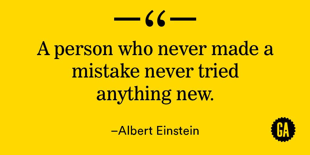 """A person who never made a mistake never tried anything new."" - Albert Einstein #MondayMotivation http://t.co/Mbn0vxFUCc"