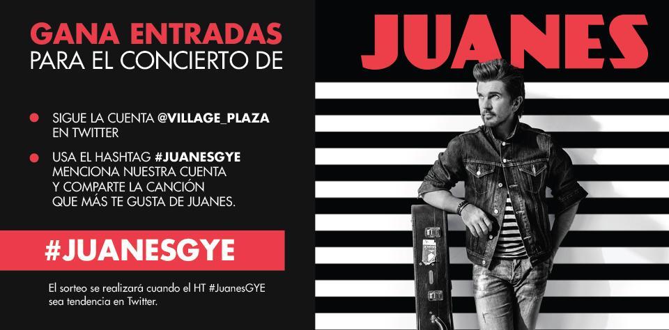 ¡Gana entradas para @JuanesEcuador ! Menciónanos y comparte la canción que más te guste con el HT #JuanesGye http://t.co/0hW09cTGob
