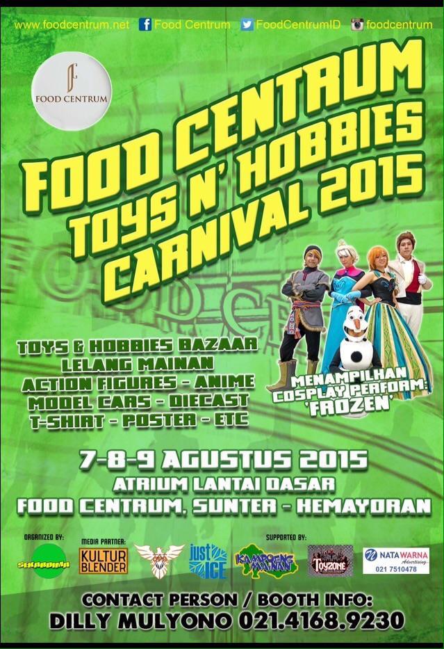 Yuk simak #infoseru #acaraseru @sekardima 7-9 Agustus '15 mendatang di @FoodCentrumID #toys #bazaar #cosplay #diecast http://t.co/1yTWEgqzrz