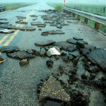 #MBstorm pic from this evening N of Pierson, MB Tornado was so violent it ripped the asphalt from the hiway @680CJOB http://t.co/RhqgzBYzBw