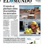 Bdia. Esta es la portada de la edición de EL MUNDO /El Día de Baleares de hoy martes. Dentro mucho más. http://t.co/IKjJ5q3Hic