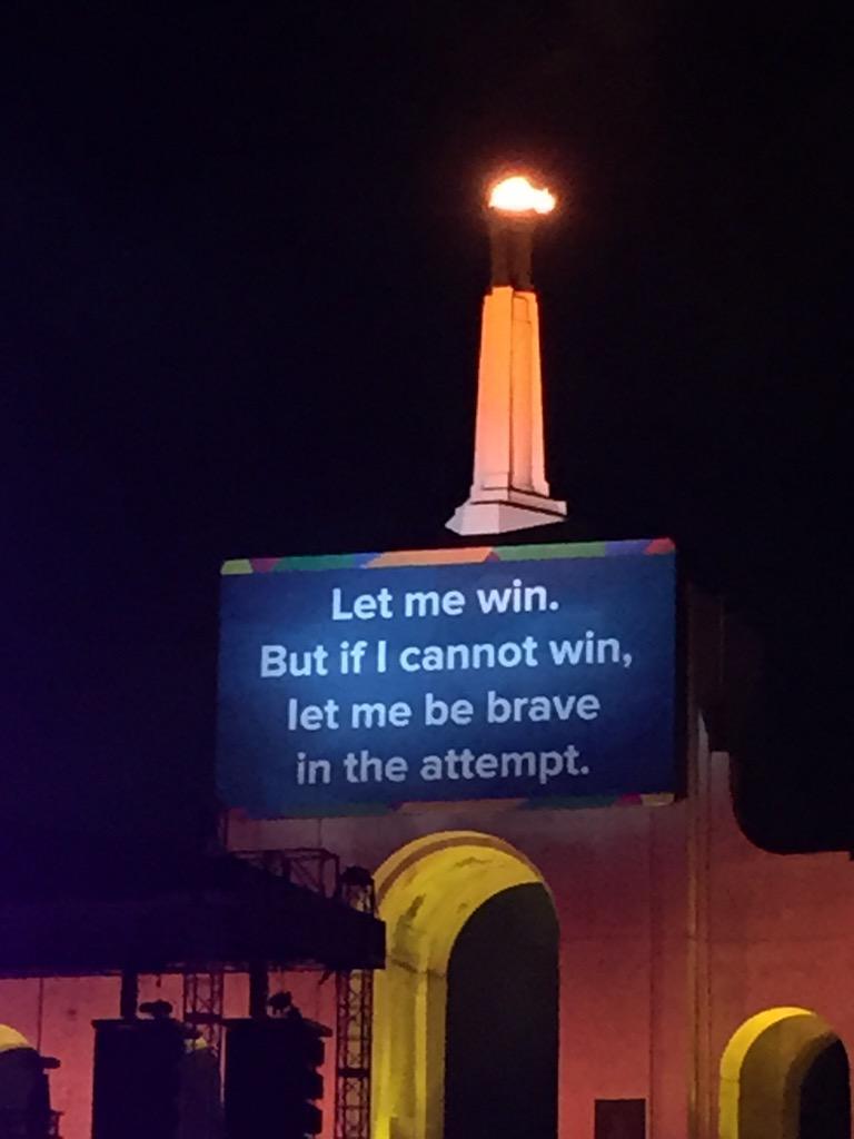 Torch has been lit! Let @LA2015 Games begin! @SpecialOlympics http://t.co/Jjuz48UWJ5