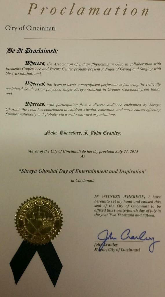"""Shreya Ghoshal Day of Entertainment & inspiration"""