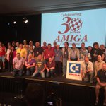 Onstage 30th anniversary reunion of Amiga people at the Computer History Museum.