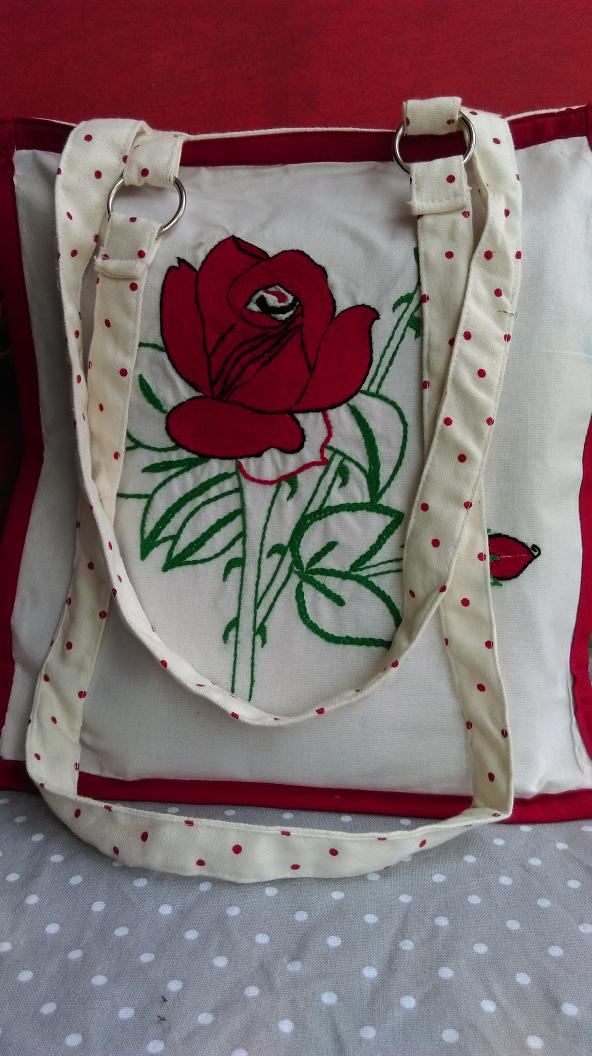 A hand embroidered bag of Rs.360 if  purchased by you will provide means of livelihood to  a rural women for a day. http://t.co/nMNgUgm5sW