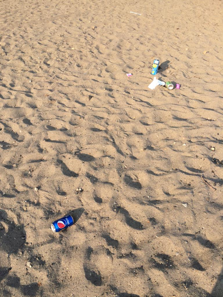 Please don't do this. We have nice beaches, but this happens too often.(Cherry beach). http://t.co/x438jsNRLY