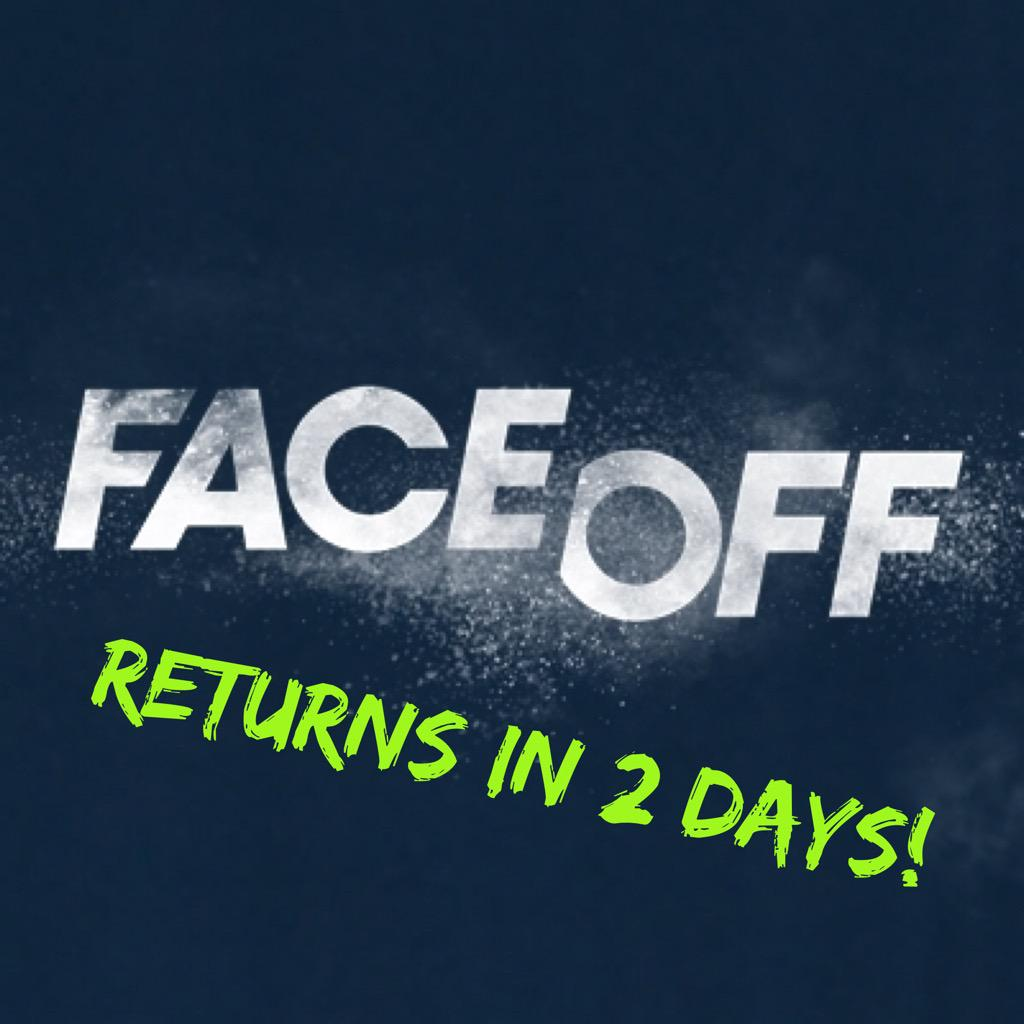 #FaceOff returns in 2 days!  Season premiere Tuesday, 7/28 at 9pm on @Syfy!  @FaceOffSyfy @mckenziewestmor http://t.co/a04PnYWPeH