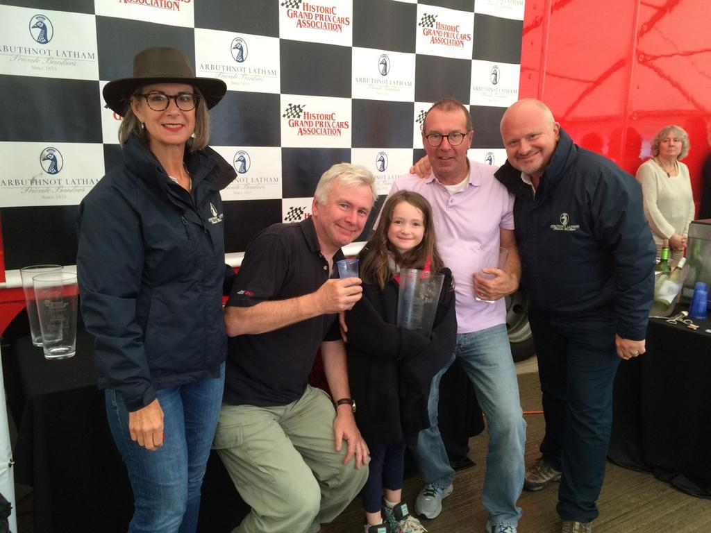 Future BTCC Champion Daisy Fairley collects trophy for Dad (Jon) @Silverclassic http://t.co/oi3QMYM4sF