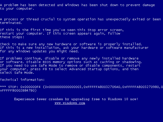 Updated Win7 BSOD promotes free upgrades to Windows 10: http://t.co/TVCKGSNp13