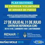 #Desarme #TodaLaSemana En el CDR de #SanFernando (Sarmiento 1069) de 9 a 14, puesto móvil de recepción de armas. http://t.co/UOralbbxy9