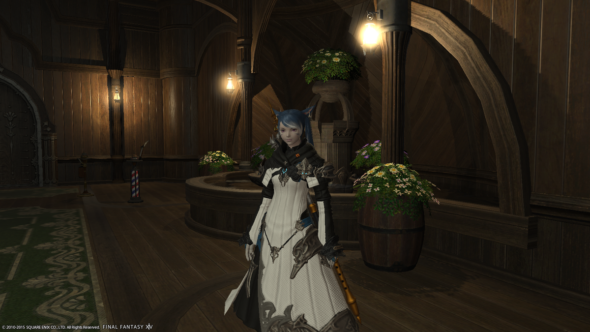New robe is super cool, so new hair ended up being a thing too (cc @HawaiianZombie) #FFXIV http://t.co/B5kfvYsxhN