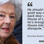 Lord Sewel must quit over sex & drugs claims, ex-Commons speaker Baroness Boothroyd tells BBC http://t.co/SxnqIxz5vh