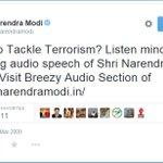 Assume Narendra Modi didnt listen to the mind-blowing audio speech of Shri Narendra Modi which Narendra Modi shared http://t.co/q7Jz3fllKf