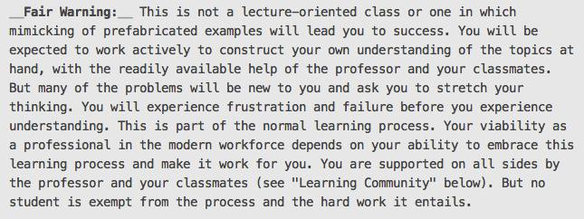 Adding this to my syllabi for discrete structures this fall. Wish I had done it for calc this summer. http://t.co/gtyGR5zFG5