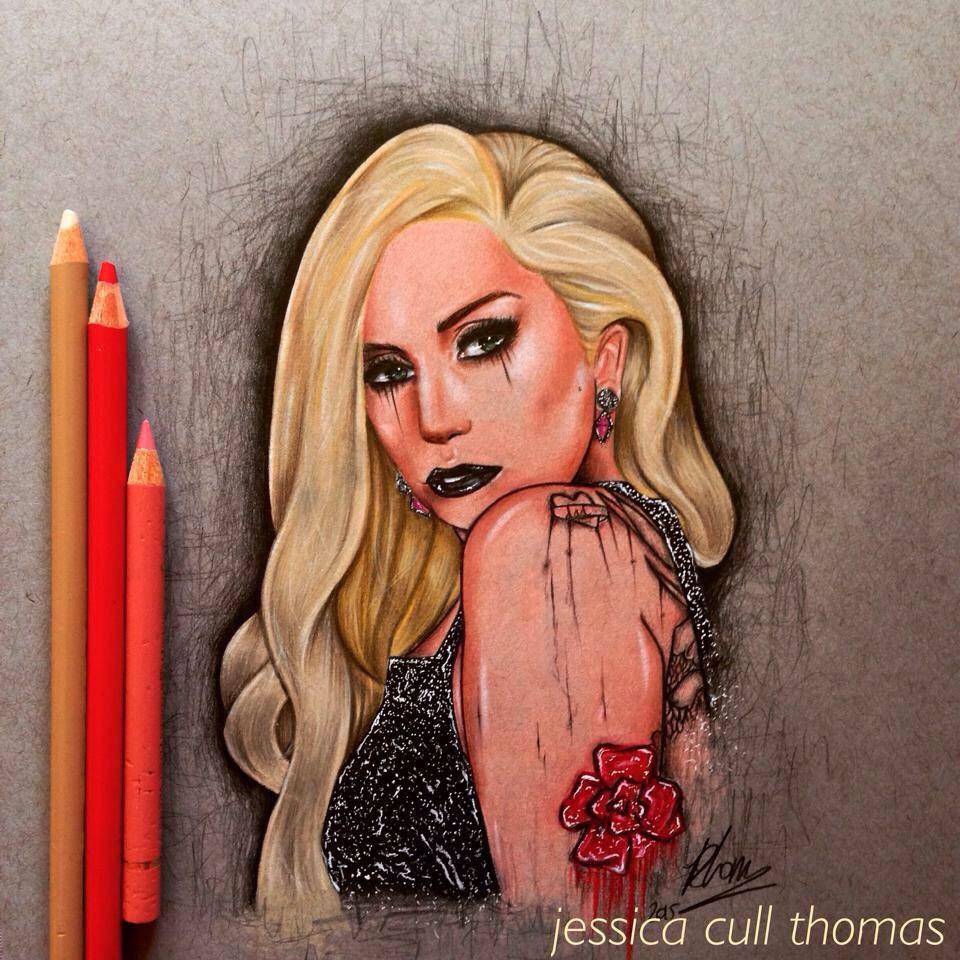 Hey Gaga, my best friend (@bornthisjesss) is an amazing  artist http://t.co/6QQlnXgtxg