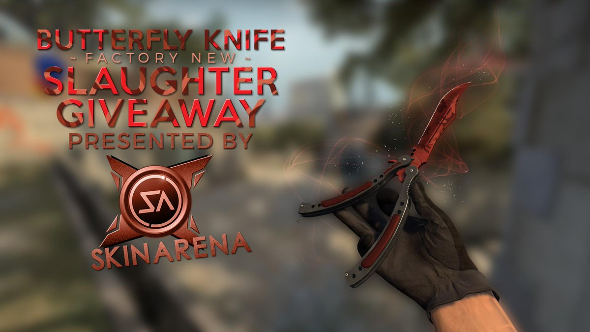 Butterfly | Slaughter FN GIVEAWAY!   RT to enter!  Must be following Myself & @SkinArenaCS :D  GL <3 http://t.co/JvZNDEZZCO