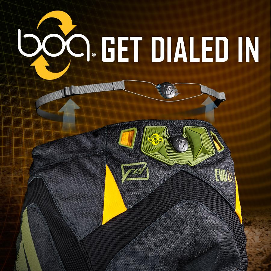 FLY Racing is proud to introduce the industry's first @BoaClosure System MX Pant: the 2016 Evolution 2.0. #Innovation http://t.co/f3aNWlY01r