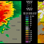 Any tornado is now rain wrapped and not visible. If in Tilston/Sinclair #mbstorm area or Antler #skstorm Shelter now http://t.co/EpVRa9W8uU