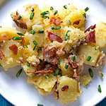 Potato salad with garlic scapes and bacon http://t.co/7QbXHYvPD3 http://t.co/o3g7t7JXrs