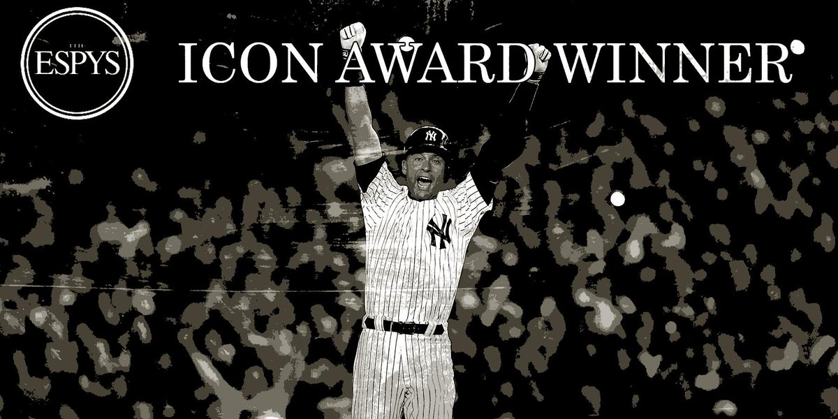 20 seasons, 3,465 hits, 5 World Series wins... now @Yankees legend Derek Jeter can add Icon Award to his resume. http://t.co/yVoaDrGA6r