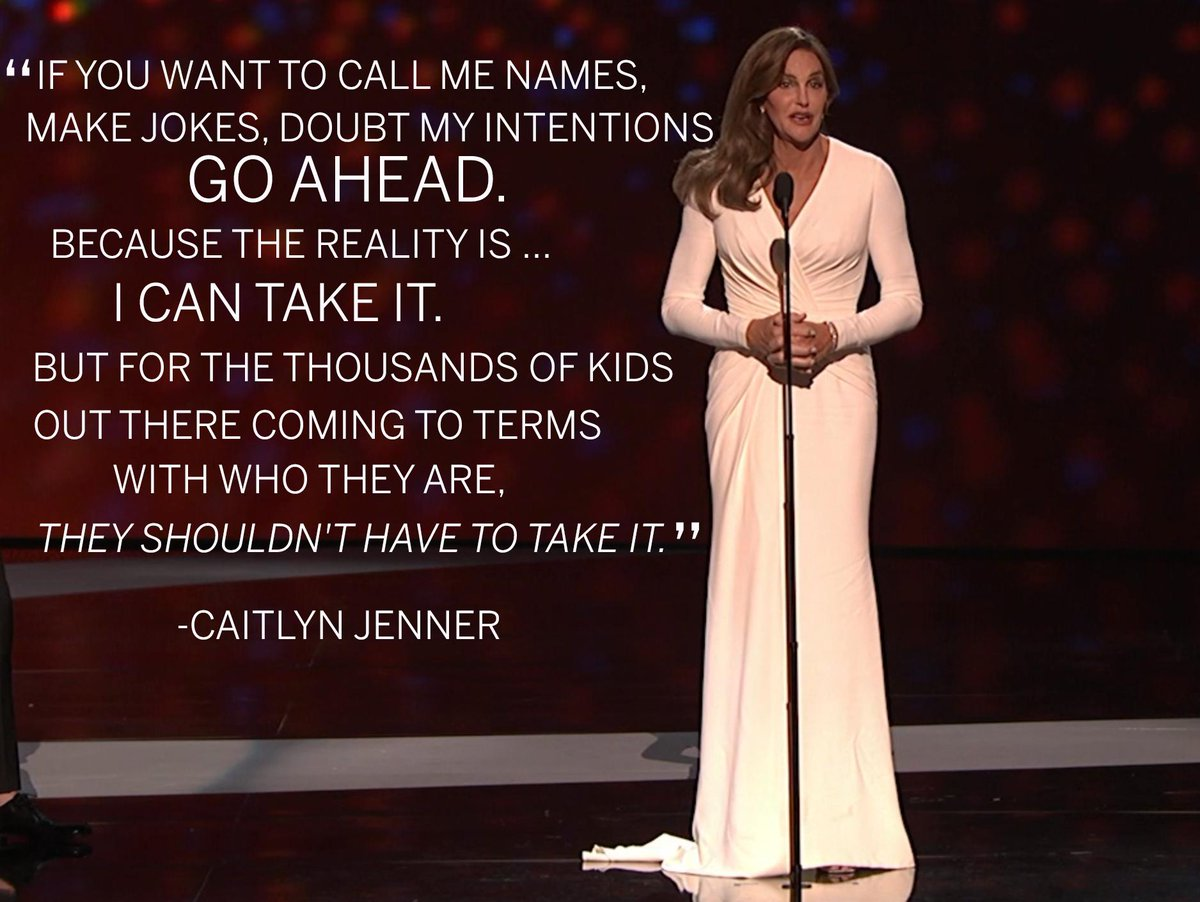 .@Caitlyn_Jenner, Arthur Ashe Courage Award winner at the 2015 #ESPYS. http://t.co/aeCdC9Nzp7 /via @espn