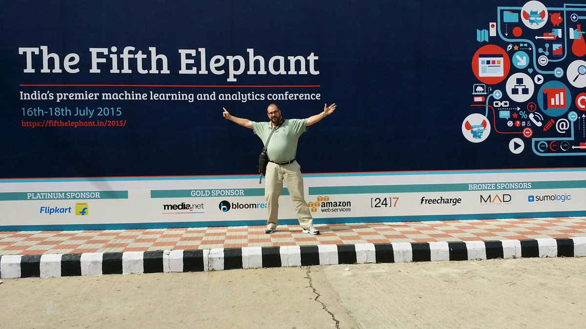 At The Fifth Elephant conference in Bangalore! #fifthel http://t.co/Ulo7vCoRjO
