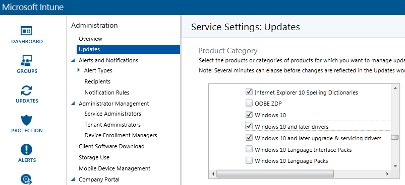 Windows 10 available as a product to update in @MSIntune http://t.co/lmHnyXiqlh