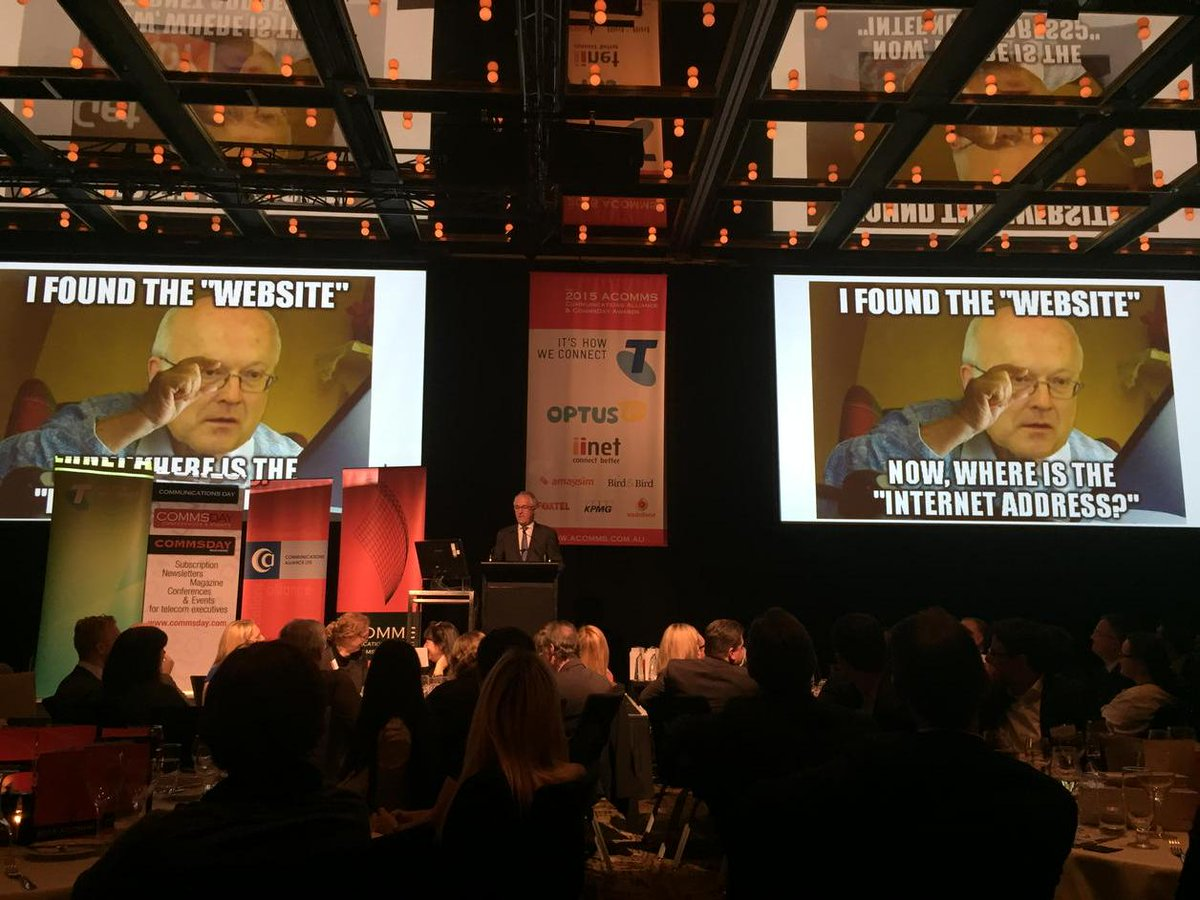 @TurnbullMalcolm explaining how much he loves metadata at the ACOMMS awards dinner tonight. Giggle. http://t.co/mJPqyojlMm