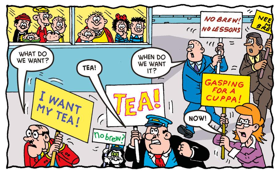 The Bash Street School teachers are on strike! Have they finally had enough of those kids? Words by @tommydonbavand http://t.co/ejQFG9K1SE