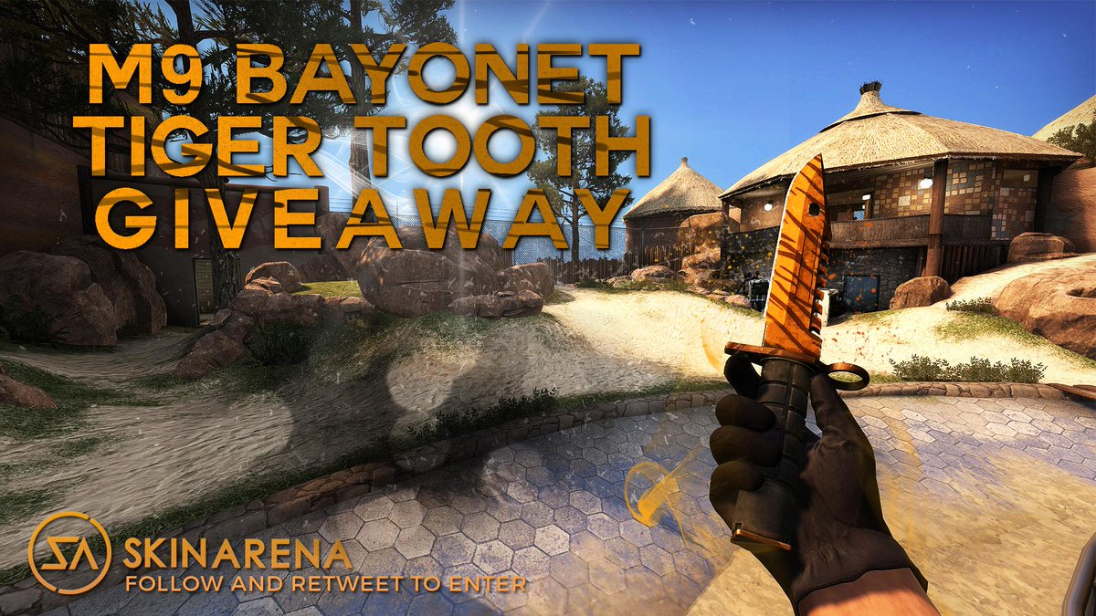 Wanna win a M9 bayonet Tiger Tooth? ReTweet and follow @SkinArenaCS and @tejbz and I'll pick a winner in 7 days! http://t.co/VmZxRmpOvE