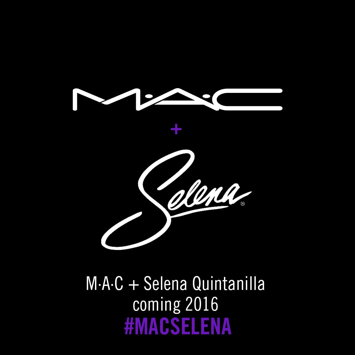Amazing news! 2016 @MACCosmetics will launch a limited-edition collection in honor of the amazing Selena! #MACSelena http://t.co/UWFMqsjSum