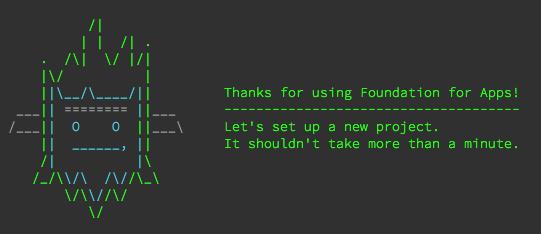 Yeti! @ZURBfoundation for Apps installer. http://t.co/ncskRJmYPp