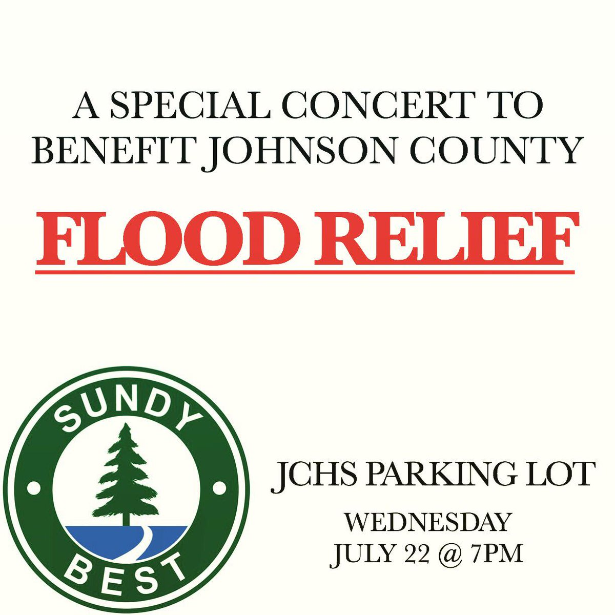 WED JULY 22  free show to benefit JC flood relief  all donations accepted at entrance  #kinfolk ☀️ http://t.co/d3a9PpFrJk
