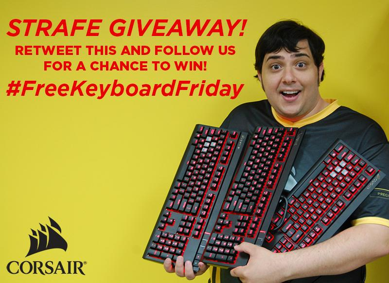 Friday? No, but we're using #FreeCodeFriday to give away a STRAFE keyboard! Follow & RT to win! #FreeKeyboardFriday http://t.co/v4W2mPQ28c
