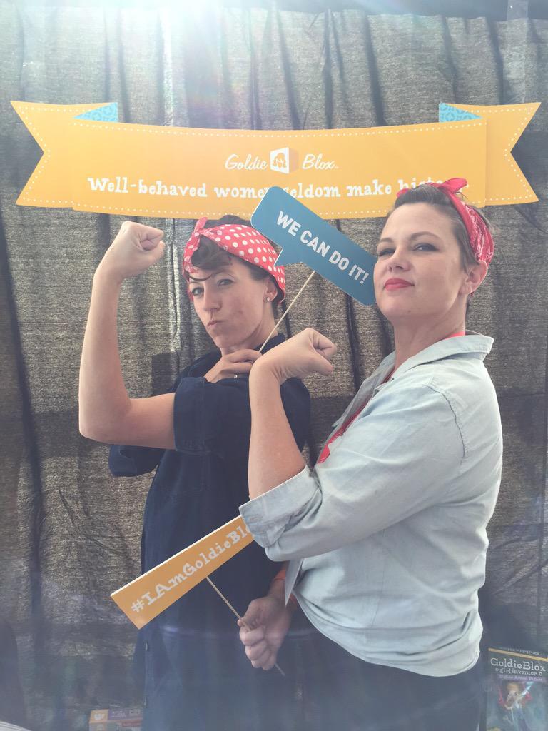 My Nana was an original Rosie - love @goldieblox & their message for girls.  #girlsneedgoldie #BBNYC http://t.co/wzRn9cZE11