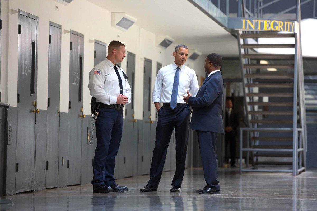 RT @WhiteHouse: Today, @POTUS became the first sitting President to visit a federal prison → http://t.co/DMN3wDSg55 http://t.co/eQRqxusZoh
