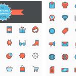 Flat Line Shopping Icons http://t.co/20BQAz3JqE http://t.co/hPLKPoLywd