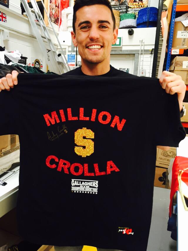 We are giving away special edition fight night signed @ant_crolla t-shirt with a comp running soon #RT #STAYTUNED http://t.co/LFWFM8Veot