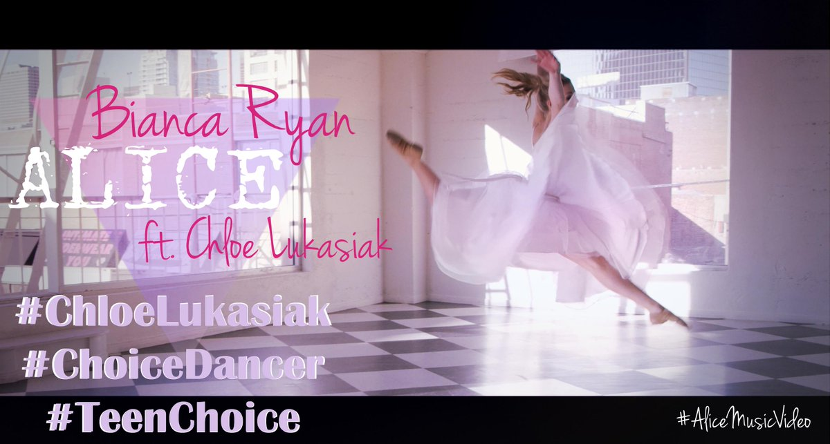 Keep voting! My #ChoiceDancer vote is for @chloedancer3 @TeenChoiceFOX cuz she was awesome in my #Alice music video