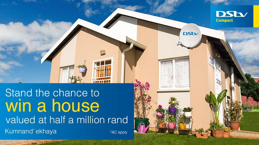 with dstv compact you could win a brand new house valued