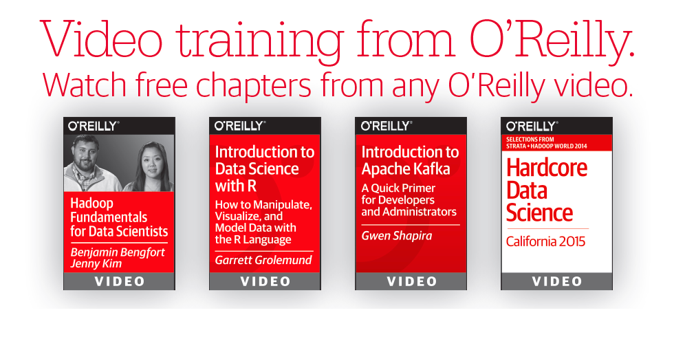 Watch free chapters from any @OReillyMedia video course to get started http://t.co/joiY62PwWF  #bigdata #datascience http://t.co/bDuiCCjro5