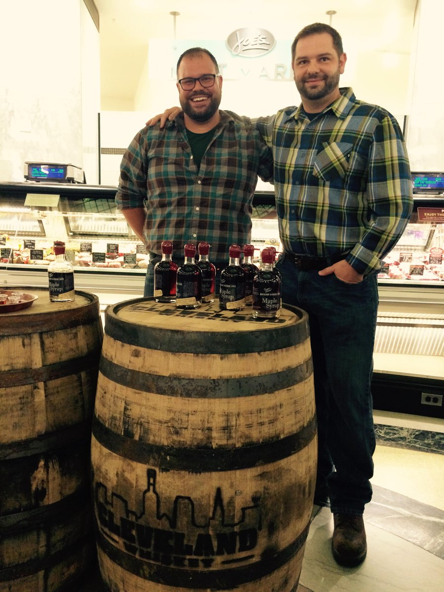 Congratulations to Bissell Maple Farm Bourbon Barrel Aged Maple Syrup, the winner of #Heinens Shark Bank competition! http://t.co/WVET1IGCCo